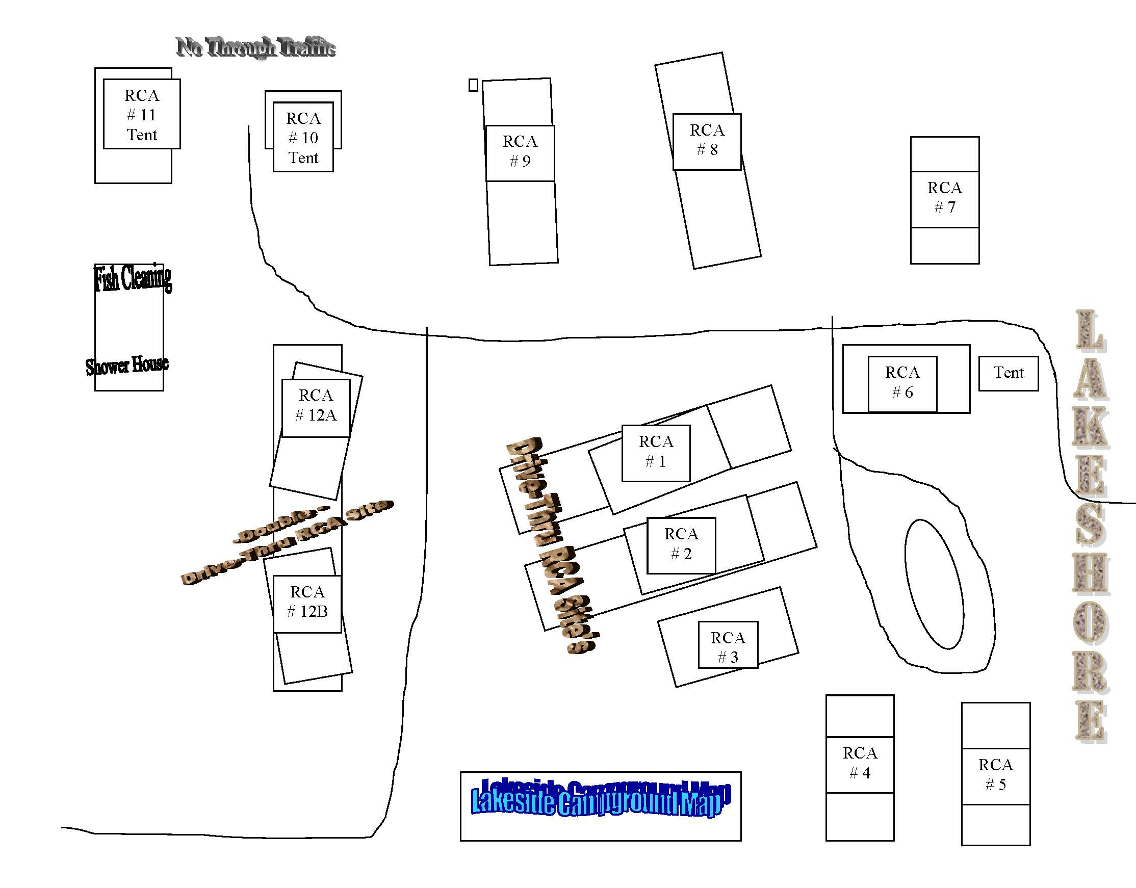 Map of Dale's on Lake of the Woods campground